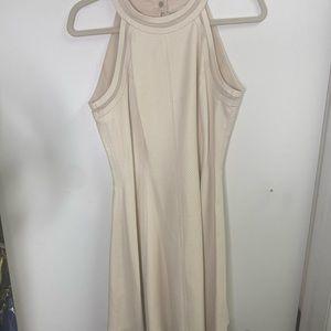 Cream leather dress